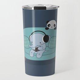 Kawaii Elephant And Panda Travel Mug
