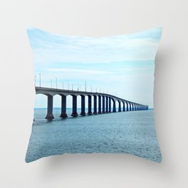 Under the Bridge and Beyond Throw Pillow