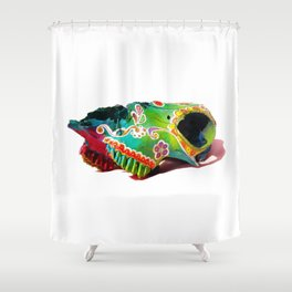 Colorsfull sheep skull Shower Curtain