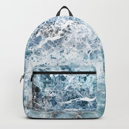 Sea foam blue marble Backpack