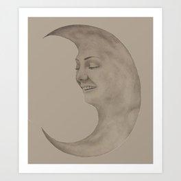Moon Chick Art Print