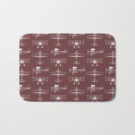 Biplanes // Tosca Red Bath Mat