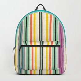 retro stripe Backpack