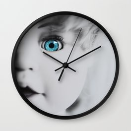 Doll With the Blue Eye Wall Clock