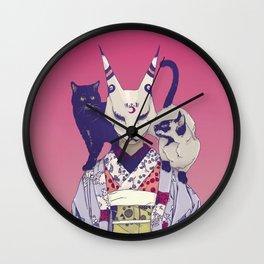 Neko Lady Wall Clock