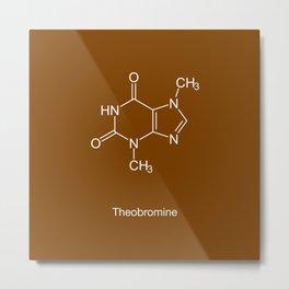 Theobromine (chocolate) Metal Print