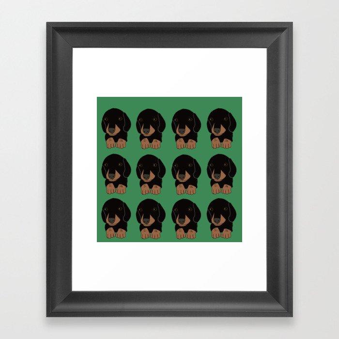 Dachshund Puppies Galore! Framed Art Print