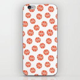 Basketball Pattern iPhone Skin