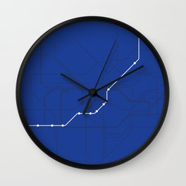 London Underground Piccadilly Line Route Tube Map Wall Clock