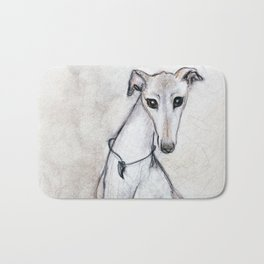 The Greyhound Wearing His Thorn Bath Mat