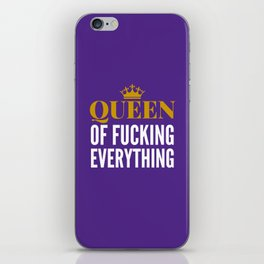 QUEEN OF FUCKING EVERYTHING (Purple) iPhone Skin