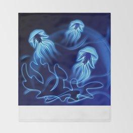Tanz der Medusen - Dance of the jellyfish Throw Blanket