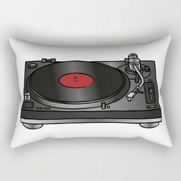 Vinyl record player Rectangular Pillow