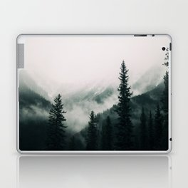 Over the Mountains and trough the Woods -  Forest Nature Photography Laptop & iPad Skin