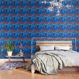 Starry Night In Munich - Van Gogh Inspirations with Church of Our Lady and City Hall Wallpaper