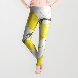Golden Ginkgo Leaves Leggings