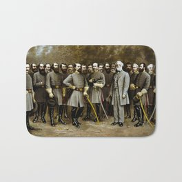 Robert E. Lee and His Generals Bath Mat