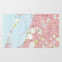 Vintage Map of Clearwater Florida (1974) Rug