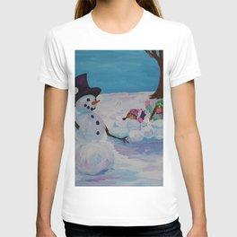 Snowman Play 4 T-shirt