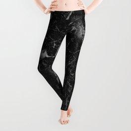 Campari - black marble Leggings
