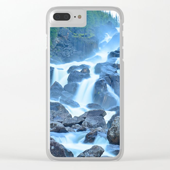 Uchar Waterfall on the Chulcha River, The Big Chulchinsky. Altai, Russia Clear iPhone Case