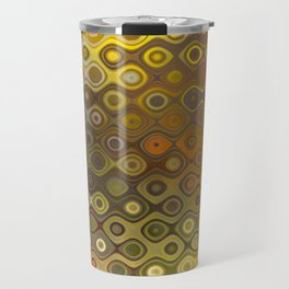 Wobbly Dots in yellow-orange Travel Mug