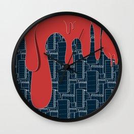 Drips (navy) Wall Clock