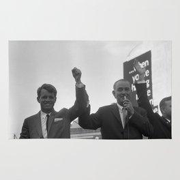 Lyndon Johnson With Robert Kennedy Rug