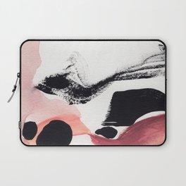 Blush Abstract Art Laptop Sleeve