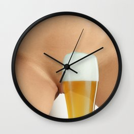 Beer and Naked Woman Wall Clock