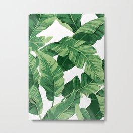 Tropical banana leaves IV Metal Print
