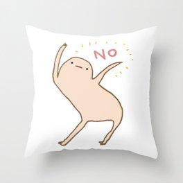 Honest Blob Says No Throw Pillow