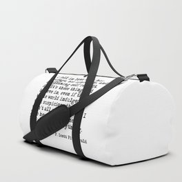 I fell in love with her courage - F Scott Fitzgerald Duffle Bag