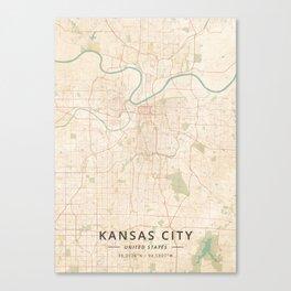 Kansas City, United States - Vintage Map Canvas Print