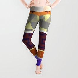 Multi Coloured Geometric Pattern Leggings