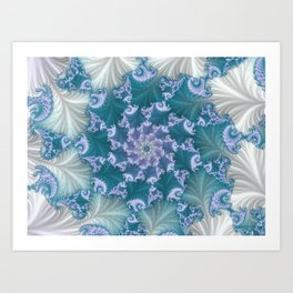 floral abstract background Art Print