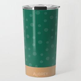 Aubrey - Hunter Green and Tan Travel Mug