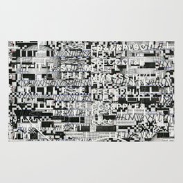 Confused Images Behind the Interface (P/D3 Glitch Collage Studies) Rug