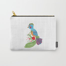 The Blue Quetzal Carry-All Pouch