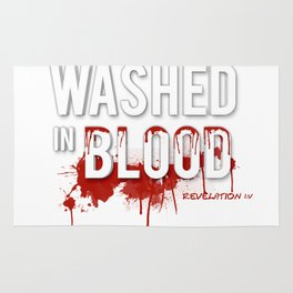Washed in Blood Rug