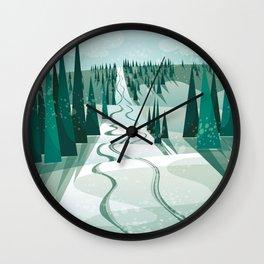 Winter Slope Wall Clock