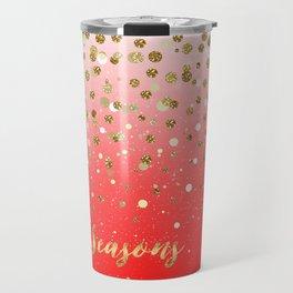 """Confetti Xmas """"Seasons Greetings"""" Travel Mug"""