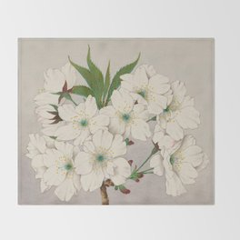 Cascade Fragrance Cherry Blossoms Throw Blanket