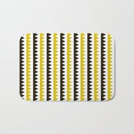 Geometric Pattern #189 (mustard) Bath Mat