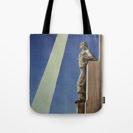 Trieste art deco Italian travel ad Tote Bag