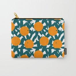 Art Deco Minimalist Orange Grove Carry-All Pouch