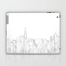Galway, Ireland Skyline B&W - Thin Line Laptop & iPad Skin