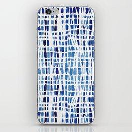 Shibori Braid Vivid Indigo Blue and White iPhone Skin
