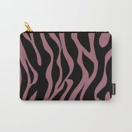 Bubble Gum Pink Stripes Carry-All Pouch