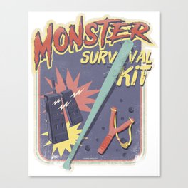 Monster Survival Kit Canvas Print